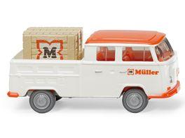 WIKING 831401 VW T2 Doppelkabine Mueller