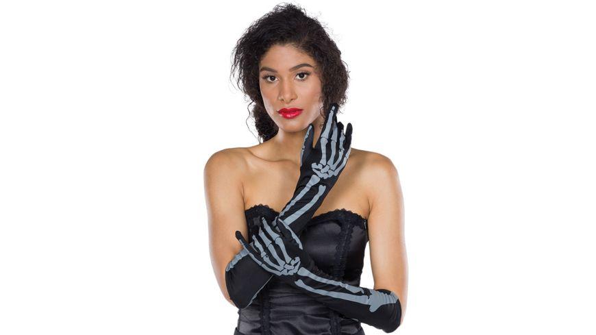 Rubies - 6302609 - Skelett-Handschuhe langarm