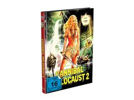 Cannibal Holocaust 2 Amazonia Kopfjagd im Regenwald 3 Disc Mediabook Cover A Blu ray DVD Bonus DVD Limited 999 Edition Uncut