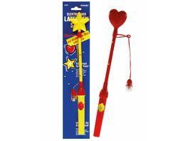 Amscan Lantern Stick Electrical Flashing Heart Star Assorted Plastic 34 cm