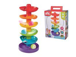 Simba ABC Regenbogen Kugelturm 5 Ebenen 1 Standflaeche 2 farbige Baelle 1 transparenter Ball mit Gloeckchen