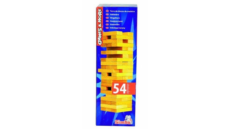 Simba Games and More Holz-Wackelturm Kinder Spielzeug Geschicklichkeitsspiele Holzspielzeug