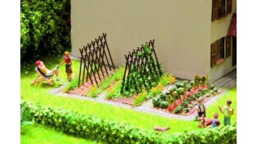 NOCH 14604 Laser Cut minis Bohnenstangen 6 Rankgestelle aus Holz