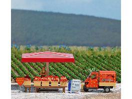 Busch 7725 Modellbahnzubehoer Mini Welt Erdbeer Verkaufsstand