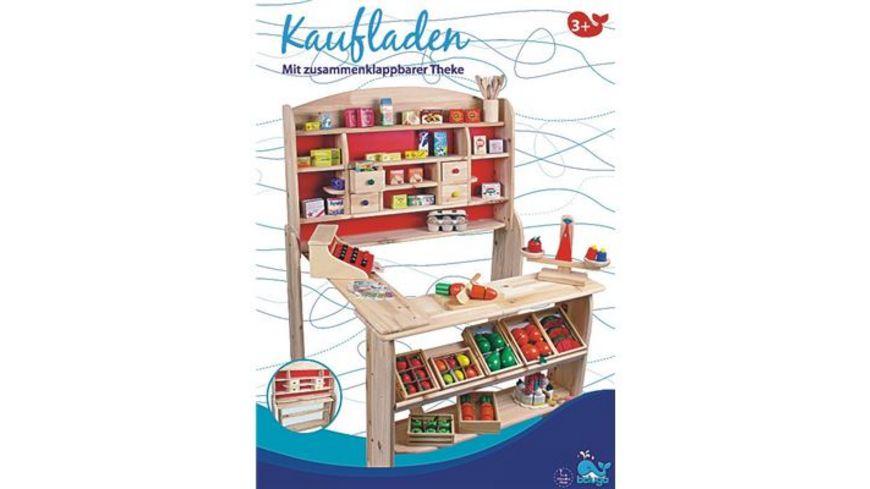 Beluga Kaufladen aus Holz mit Ladentheke und 4 Schubfaechern