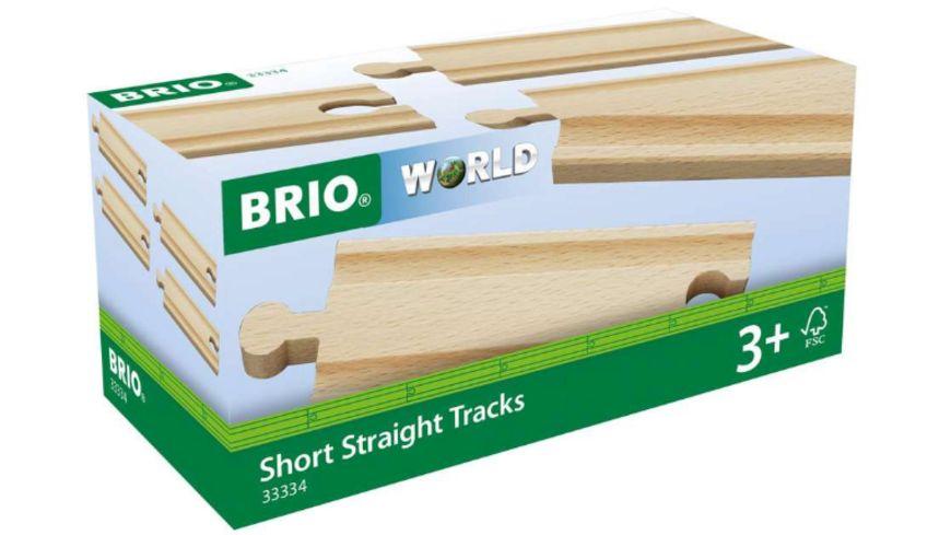 BRIO Bahn - 1/2 Gerade Gleise, 4 Stück