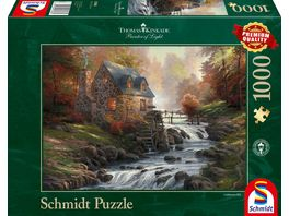Schmidt Spiele Puzzle Thomas Kinkade Bei der alten Muehle 1000 Teile