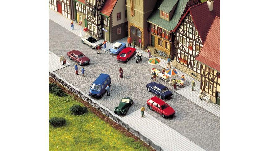 Busch Modellbahnzubehoer Altstadt Pflaster Platz
