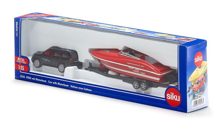 SIKU 2543 Super PKW mit Motorboot