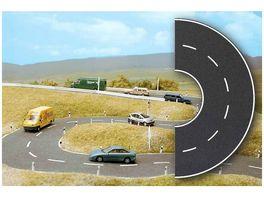 Busch Modellbahnzubehoer Strassenkurven