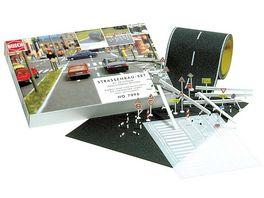 Busch Modellbahnzubehoer Strassenbau Set