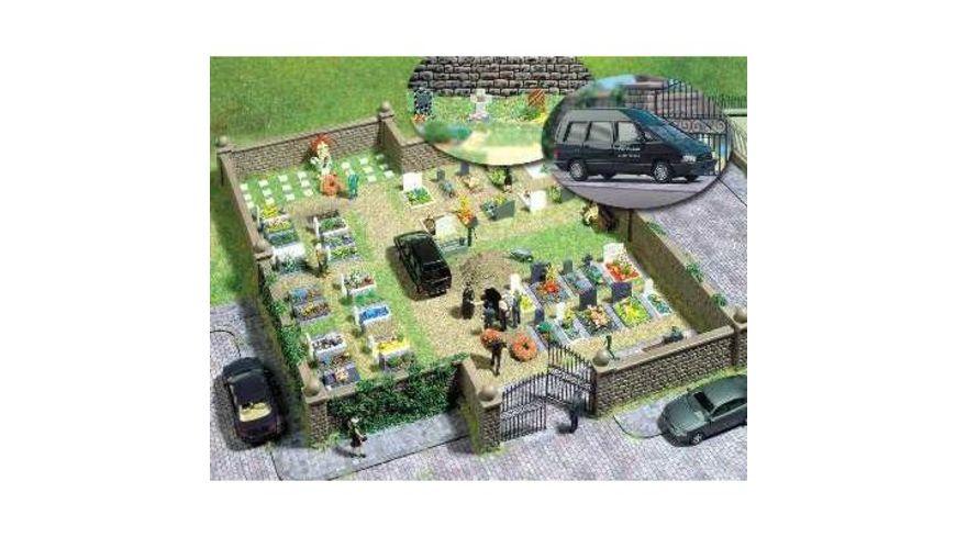 Busch Modellbahnzubehoer Bausatz Friedhof