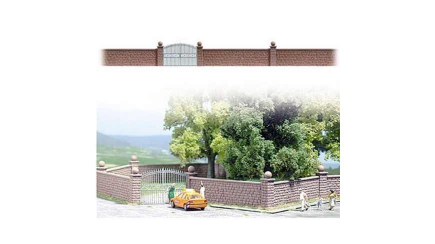 Busch Modellbahnzubehoer Steinmauer mit Tor