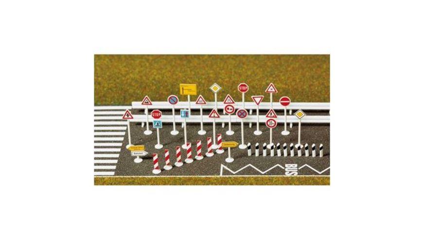 Busch 6027 Modellbahnzubehoer Verkehrszeichen Set