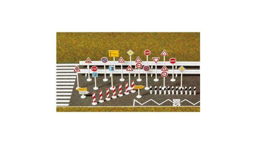 Busch Modellbahnzubehoer Verkehrszeichen Set