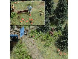 Busch Modellbahnzubehoer Farne und Pilze
