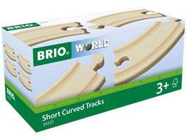 BRIO Bahn Kurze gebogene Gleise E1