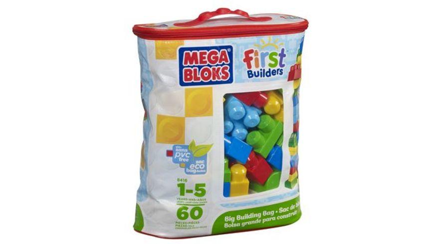 Mattel Mega Bloks First Builders Bausteinebeutel Medium 60 Teile Grundfarben