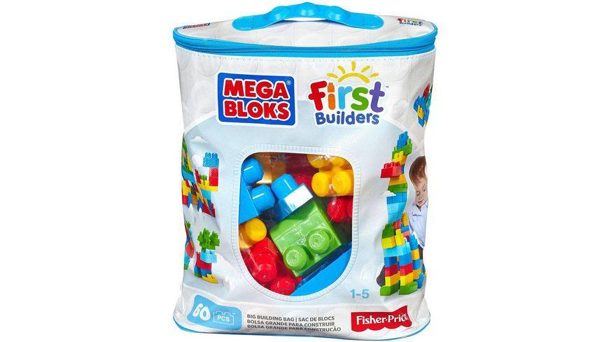 Mega Bloks Bausteine-Beutel bunt (60 Teile), Steck-Bausteine Kinder, Bauklötze