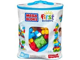 Mega Bloks Bausteine Beutel bunt 60 Teile Steck Bausteine Kinder Baukloetze