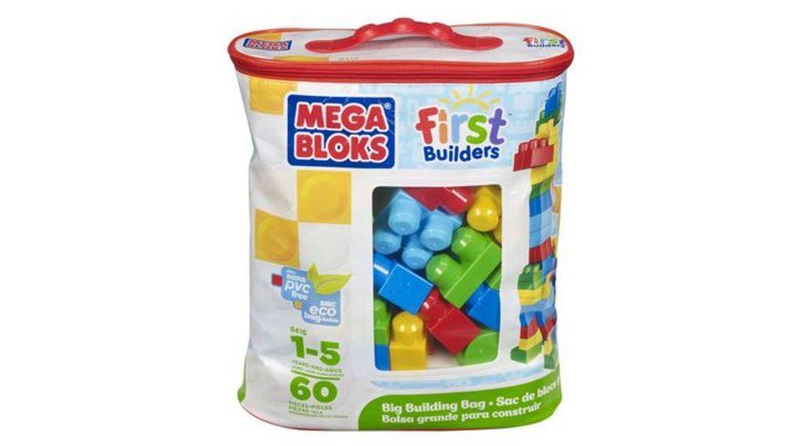 Fisher Price Mega Bloks First Builders Bausteinebeutel Medium 60 Teile Grundfarben