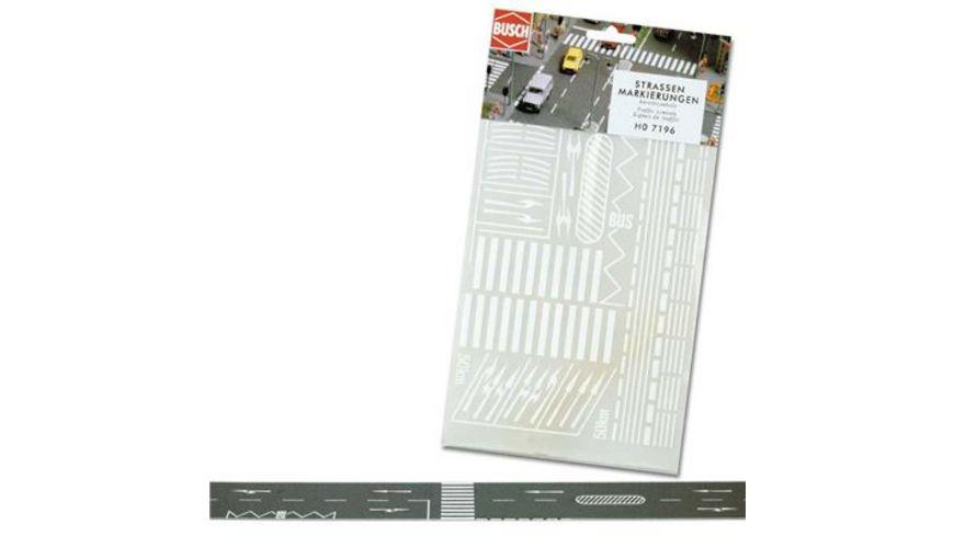 Busch 7196 Modellbahnzubehoer Strassenmarkierungen
