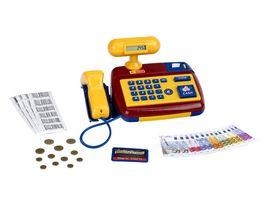 Theo Klein 9330 Elektronische Registrierkasse I Spielkasse mit Scanner Taschenrechner Sound I Inkl Spielgeld I Masse 26 5 cm x 17 cm x 14 cm I Spielzeug fuer Kinder ab 3 Jahren