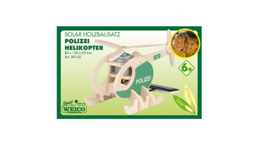 Weico 80142 Polizeihelikopter Holzbausatz