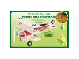 Weico 80146 Fokker DR I Dreidecker Holzbausatz
