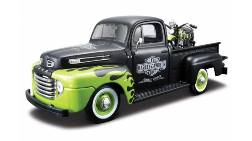 Maisto - 1:24 Ford Pick-Up 48 + HD FL Panhead ´48