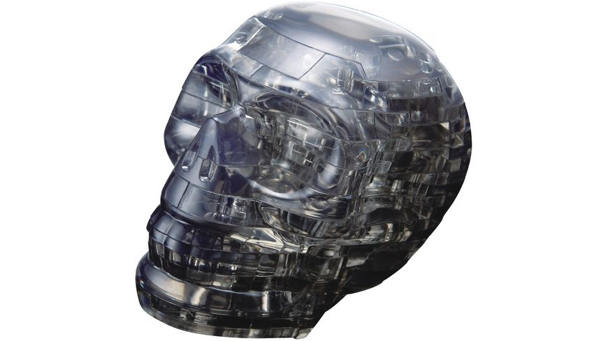 HCM Kinzel Crystal Puzzle Schaedel schwarz