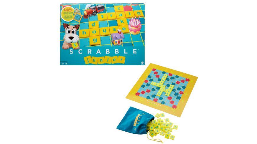 Mattel Games Scrabble Junior, Kinderspiel, Lernspiel, Brettspiel, Familienspiel