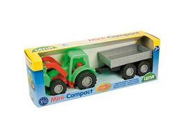 Lena Fahrzeuge Mini Compact 01240 Traktor mit Haenger Schaukarton