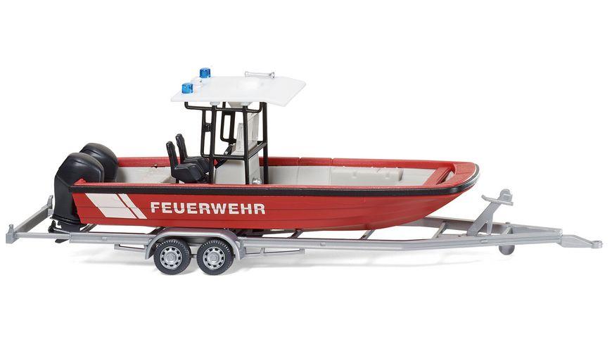 WIKING 009547 Feuerwehr Mehrzweckboot MZB72 Lehmar mit Dach