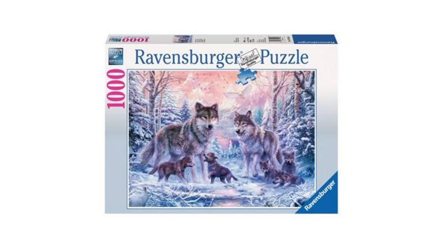 Ravensburger Puzzle Arktische Woelfe 1000 Teile