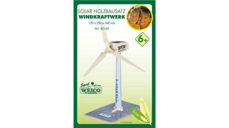 Weico 80145 Windkraftwerk Holzbausatz