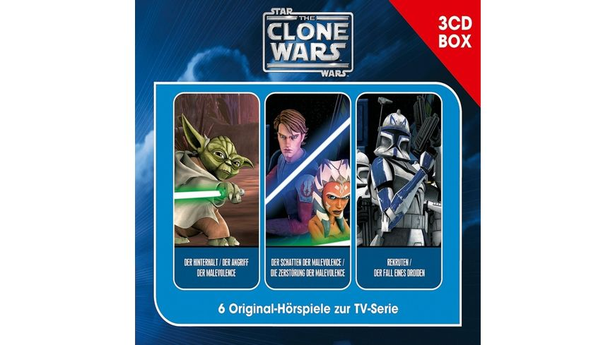 The Clone Wars 3 CD Hoerspielbox Vol 1