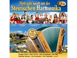 Flott Aufg spielt Mit Der Steirischen Harmonika
