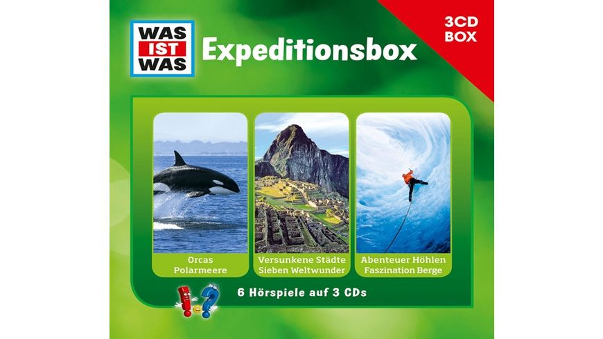 WAS IST WAS 3 CD Hoerspielbox Vol 2 Expeditionsbox