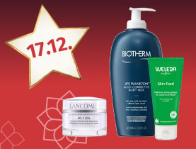 20% Rabatt auf alle Gesichts- & Körperpflegeartikel der Parfümerie und Naturkosmetik