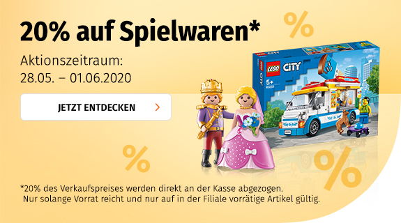 20% auf Spielwaren