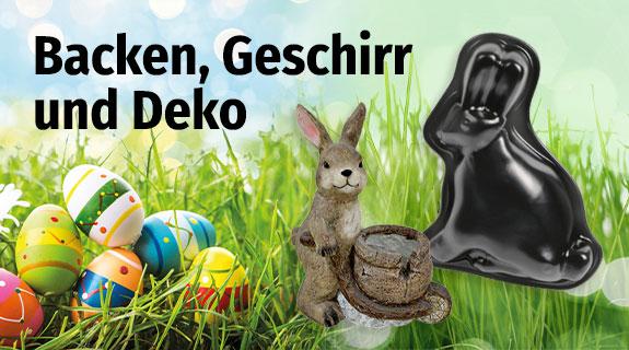 Backen, Geschirr & Deko zu Ostern