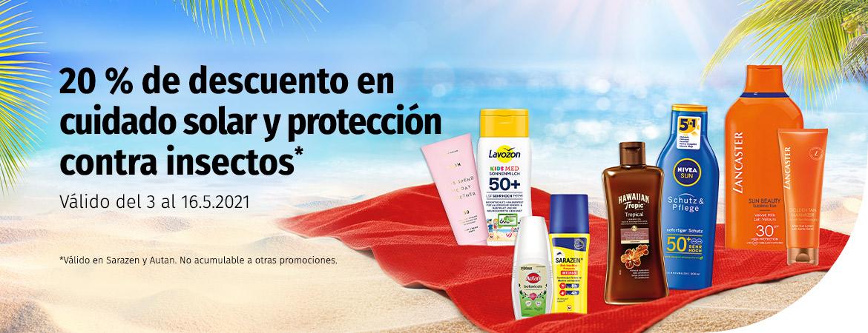 20 % en solares y protección contra insectos