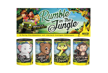 Rumble in the Jungle Tischbomben-Sortiment
