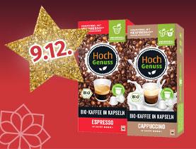 25% Rabatt auf alle HOCHGENUSS Kaffeekapseln
