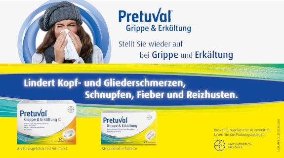 Pretuval bei Grippe