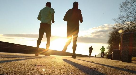 Gemeinsam joggen