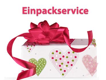 Kostenloser Einpackservice für Geschenke