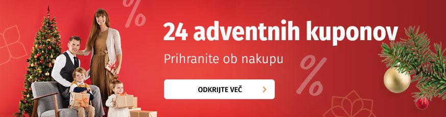 24 adventnih kuponov