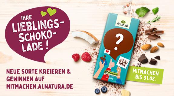 Alnatura Mitmach-Aktion Lieblingsschokolade